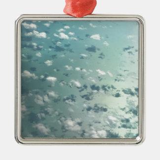 Ornement Carré Argenté Ciel et nuages