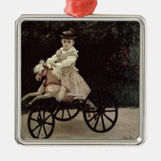 Ornement Carré Argenté Claude Monet | Jean Monet sur son cheval de