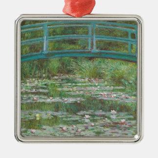Ornement Carré Argenté Claude Monet | la passerelle japonaise, 1899