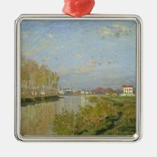 Ornement Carré Argenté Claude Monet   la Seine à Argenteuil, 1873