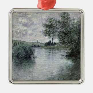 Ornement Carré Argenté Claude Monet   la Seine chez Vetheuil, 1879