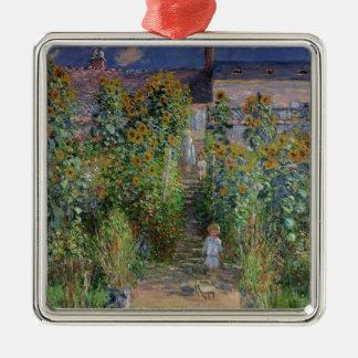 Ornement Carré Argenté Claude Monet | le jardin de l'artiste chez