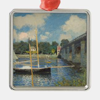 Ornement Carré Argenté Claude Monet | le pont à Argenteuil