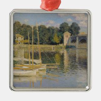 Ornement Carré Argenté Claude Monet | le pont à Argenteuil, 1874