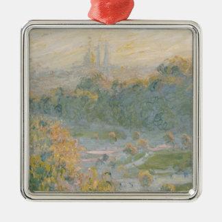 Ornement Carré Argenté Claude Monet   le Tuileries 1875