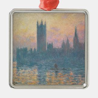 Ornement Carré Argenté Claude Monet | les Chambres du Parlement, coucher