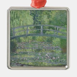 Ornement Carré Argenté Claude Monet | l'étang de nénuphar : Harmonie