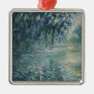 Ornement Carré Argenté Claude Monet - matin sur l'oeuvre d'art de la