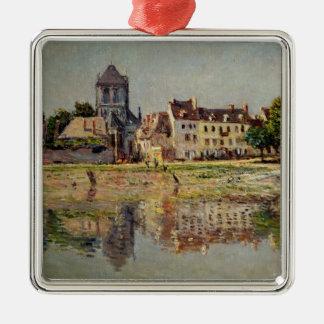 Ornement Carré Argenté Claude Monet | par la rivière chez Vernon, 1883
