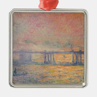Ornement Carré Argenté Claude Monet - Saint Louis de pont croisé de
