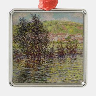 Ornement Carré Argenté Claude Monet | Vetheuil, vue de Lavacourt, 1879