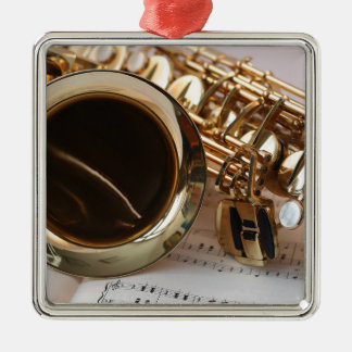Ornement Carré Argenté Clés de Notenblatt de lustre d'or de musique de