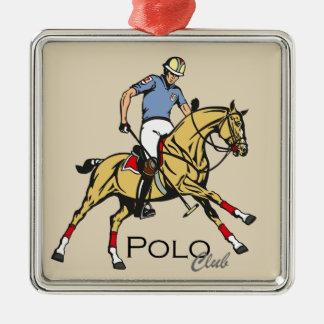 Ornement Carré Argenté club de sport équestre de polo