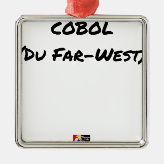Ornement Carré Argenté Cobol (Du Far-West) - Jeux de Mots- Francois Ville