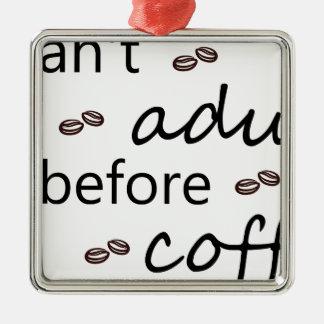 Ornement Carré Argenté coffee20