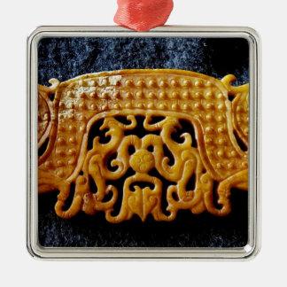 Ornement Carré Argenté Collection de jade, jade chinois archaïque