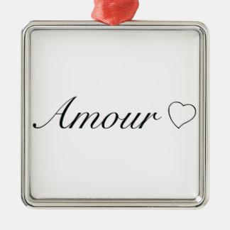 """Ornement Carré Argenté Collection """"intrigue amoureuse"""" (amour)"""