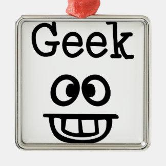 Ornement Carré Argenté Conception de geek