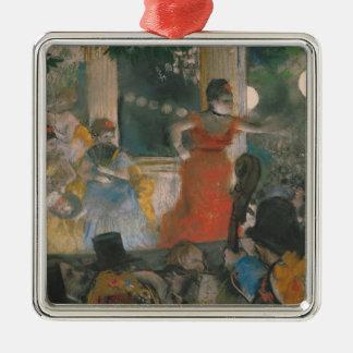 Ornement Carré Argenté Concert de café d'Edgar Degas | chez Les