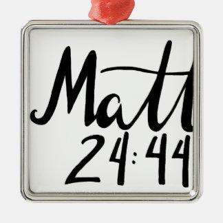 Ornement Carré Argenté Copie de citation de 24h44 de Matthew