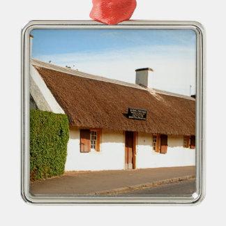 Ornement Carré Argenté Cottage de Robert Burns, Alloway, Ecosse