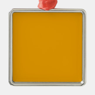 Ornement Carré Argenté Couleur solide orange de tournesol