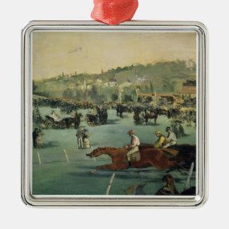 Ornement Carré Argenté Course de chevaux de Manet |, 1872