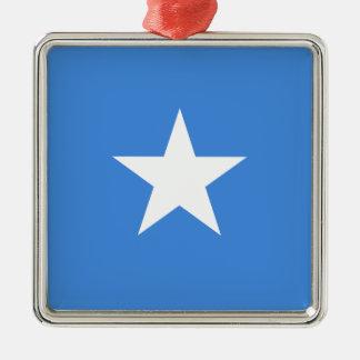 Ornement Carré Argenté Coût bas ! Drapeau de la Somalie