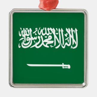 Ornement Carré Argenté Coût bas ! Drapeau de l'Arabie Saoudite