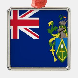 Ornement Carré Argenté Coût bas ! Drapeau d'îles de Pitcairn