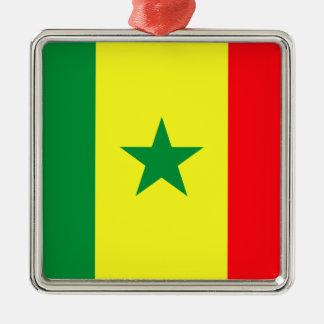 Ornement Carré Argenté Coût bas ! Drapeau du Sénégal