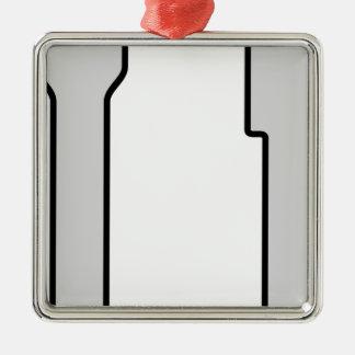 Ornement Carré Argenté Couteau et fourchette