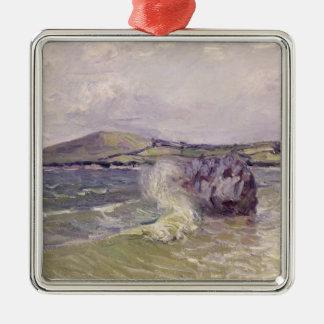 Ornement Carré Argenté Cove de Madame, baie de Langland, Le Mati d'Alfred