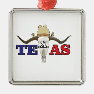 Ornement Carré Argenté cowboy mort le Texas