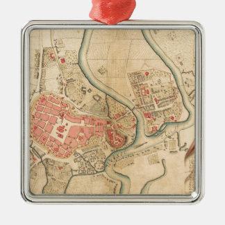 Ornement Carré Argenté Cracovie Pologne 1755