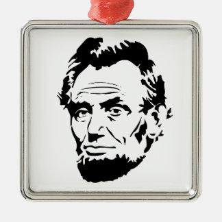 Ornement Carré Argenté Croquis d'Abraham Lincoln