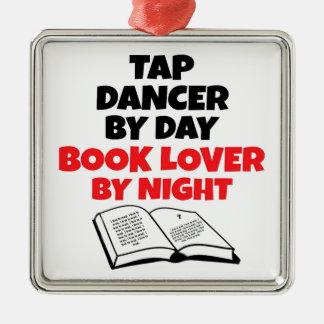 Ornement Carré Argenté Danseur de claquettes d'amoureux des livres
