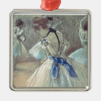 Ornement Carré Argenté Danseur d'Edgar Degas |