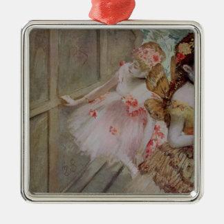 Ornement Carré Argenté Danseur d'Edgar Degas | contre une étape plate,