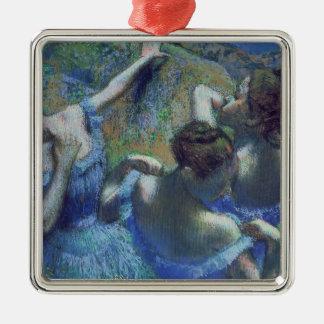 Ornement Carré Argenté Danseurs de bleu d'Edgar Degas |, c.1899