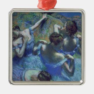 Ornement Carré Argenté Danseurs de bleu d'Edgar Degas  , c.1899