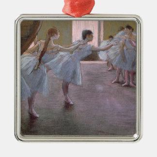 Ornement Carré Argenté Danseurs d'Edgar Degas | à la répétition,