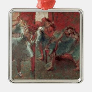 Ornement Carré Argenté Danseurs d'Edgar Degas | à la répétition, 1895-98