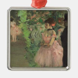 Ornement Carré Argenté Danseurs d'Edgar Degas | à l'arrière plan,