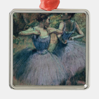 Ornement Carré Argenté Danseurs d'Edgar Degas | dans la violette