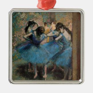 Ornement Carré Argenté Danseurs d'Edgar Degas | dans le bleu, 1890