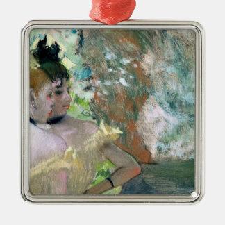 Ornement Carré Argenté Danseurs d'Edgar Degas | dans les ailes