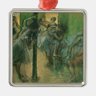 Ornement Carré Argenté Danseurs d'Edgar Degas | préparant