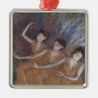 Ornement Carré Argenté Danseuses d'Edgar Degas | Trois