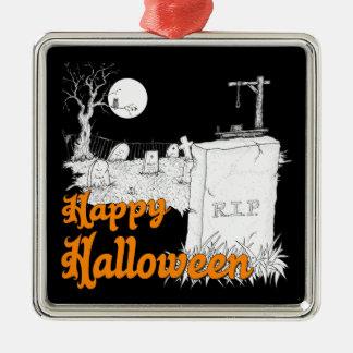 Ornement Carré Argenté DÉCHIRURE de Halloween